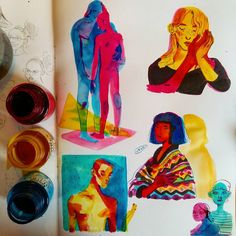 Ideas Art Sketchbook Ideas Drawings Moleskine For 2020 Kunst Inspo, Art Inspo, Art And Illustration, Art Sketches, Art Drawings, Posca Art, Arte Sketchbook, Creation Art, Guache