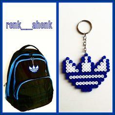 Adidas logo keyring hama perler beads by renk__ahenk
