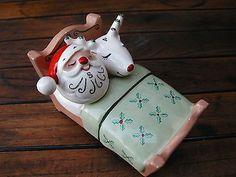Holt Howard Santa and reindeer salt & pepper ...