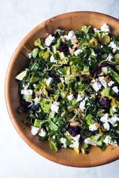 Lentil, Feta, and Avocado Salad With Lemon-Dijon Vinaigrette