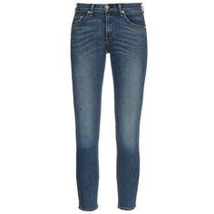 Rag & Bone Sonoma Capri mid-rise skinny jeans ($278) ❤ liked on Polyvore featuring jeans, denim, faded skinny jeans, faded blue jeans, skinny jeans, skinny capris and skinny capri jeans
