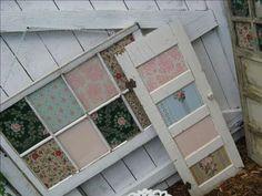 Decoupage window frames