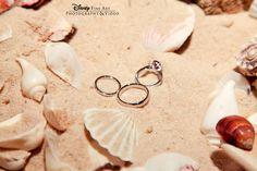 We spy a hidden Mickey in the sand! #Disney #wedding #beach #ring #shot .. I love this so much