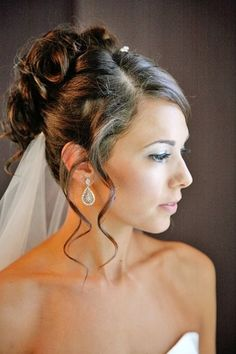 Wedding Hairstyle with Tendrils for a Romantic and Softer Updo