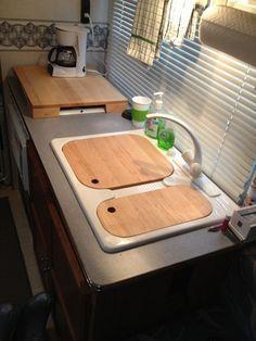 Custom Made Rv Sink And Range Cover