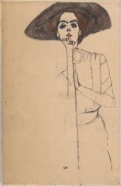 """""""Portrait of a Woman"""", 1914, Egon Schiele."""