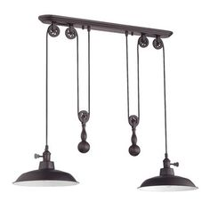 <strong>Jeremiah</strong> Pulley 2 Light Kitchen Island Pendant