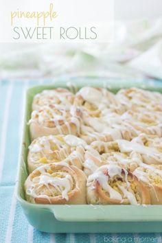 Pineapple Cream Cheese Sweet Rolls @bakingamoment