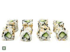 Vegetarian Sushi Rolls, Cucumber Sushi Rolls, Sushi Platter, Menu, Delivery, Ethnic Recipes, Food, Sushi Plate, Menu Board Design