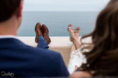 Intimate beach wedding ceremony at Los Cabos, Mexico.
