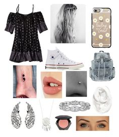 """""""Untitled #126"""" by veggieranch on Polyvore featuring American Eagle Outfitters, Casetify, Converse, Halogen, Charlotte Tilbury and H&M"""