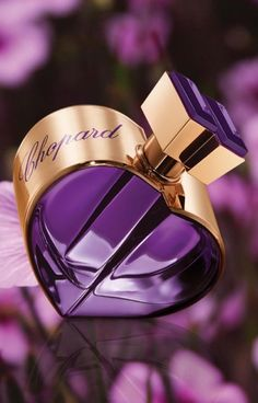 Happy Spirit Amira d'Amour Chopard perfume - a new fragrance for women 2015 Perfume Glamour, Perfume Diesel, Perfume And Cologne, Perfume Scents, The Purple, Purple Stuff, Perfume Collection, Vintage Perfume Bottles, Vintage Perfume Bottles