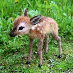 Needle Felted Baby Doe