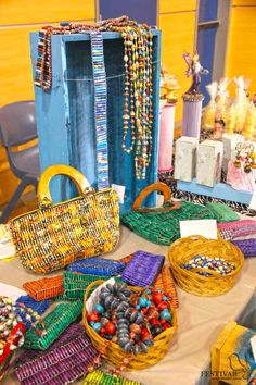 Craft Fair Antique Evaluation: Little Blue Shed is wonderful jewellery and accessories made from recycled paper. These beautiful coloured pieces are made by women in Uganda. They work in a Little Blue Shed in a place they call their workspace. These women learn new skills and sustain themselves and their families and avoid selling themselves to provide for basic essentials www.festivalgirl.com.au