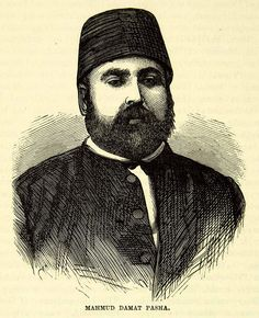 1883 Wood Engraving Mahmut Damat Pasha Portrait Ottoman Empire Russo XEGA3 - Period Paper