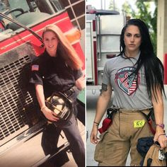 Firefighter Apparel, Firefighter Wedding, Firefighter Love, Female Firefighter, Hot Firefighters, Fit Women, Sexy Women, Firefighter Pictures, Tough Girl