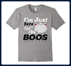 366c3cb6 Mens Boos Halloween T-Shirt for Men Women - Ghost Drinking Wine Small Slate  - Food and drink shirts (*Amazon Partner-Link)