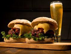 Bison Burger with Shrimp and Longaniza