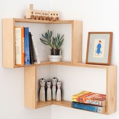How great is this corner shelf. So handy for displaying books or plants or anything really. To shop now, hit the link in our profile or search 'corner shelf'  on dtll.com.au #dtll #downthatlittlelane