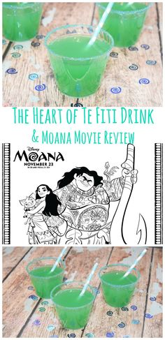 A deliciously sweet and tart drink perfect for your Moana movie party! The Heart of Te Fiti drink. The kids will love it!