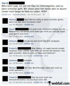 Der Opa-Beschleuniger - Facebook Fail des Tages 08.03.2014 | Webfail - Fail…