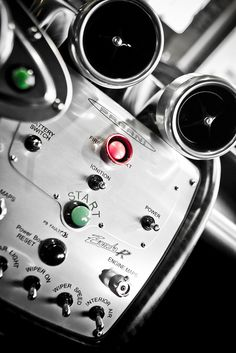 the unmistakeable Pagani console