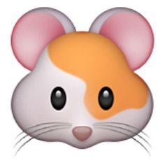 The Hamster Face Emoji on iEmoji.com