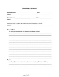 Generic complaint letter free printable pdf form useful legal home repairs agreement between a homeowner and a contractor free pdf printable letter spiritdancerdesigns Gallery