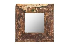 """Cahaya Mirror - SS005   Textured #rustic mirror great for many interior styles   W23"""" x H23"""" #mirror #walldecor #boatwood #accessories"""