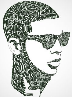 Although I'm not convinced I would class Justin Timberlake as Hip Hop, I do like these typographic portraits called 'Hip Hop Type'. Created by Alberta-based artist Sean Williams, they make clever use of negative space, with Williams taking lyrics from popular songs and arranging them to form faces.