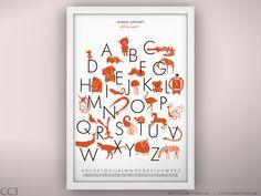 Animal Alphabet Poster Unframed 13 x 19 by LeoLittleLion on Etsy