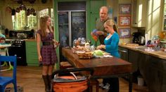 """Not only is the show """"Good Luck, Charlie"""" cute, but I absolutely love their """"home"""". Blackboard painted fridge....bold colors!"""