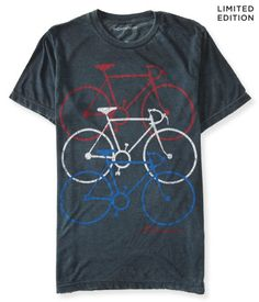 "<b>ONLY AT AERO</b> Rock some retro style during your ride in our cool Schwinn Triple Bike Graphic T! This vintage-inspired shirt sports soft, lightweight fabric for major comfort. A trio of printed bicycle silhouettes keeps you lookin' fresh as you take a spin around the neighborhood.<br><br>Relaxed fit. Men's sizing. Approx. length (M): 28""<br>Style: 6045. Imported.<br><br>50% cotton, 50% polyester.<br>Machine wash/dry."