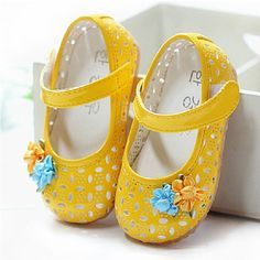 Cute Kids/Children Baby Girls Toddler Sandal Shoes, Pink/White/Yellow Princess Hole Infant Dress Sandals (3 Months-3.5 Year-Old) Sale Free Shipping ($15 to get it on 11.11.2014)