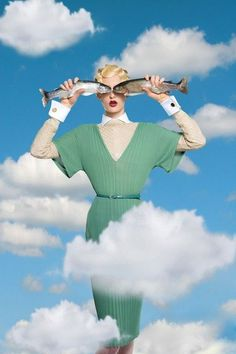 Rene Magritte, Fashion Art, Editorial Fashion, Animal Fashion, Artistic Fashion Photography, Photography Ideas, Retro, Creative Portraits, Collage Art