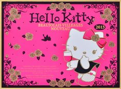 Hello Kitty Beaujolais Villages Nouveau 2013 Label
