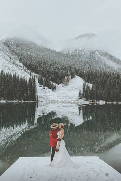 Surprise Emerald Lake Elopement via Rocky Mountain Bride Winter Mountain Wedding, Snowy Wedding, Winter Wedding Ceremonies, Wedding Ceremony, Emerald Lake, Winter Destinations, Winter Wedding Inspiration, Wedding Photos, Wedding Ideas