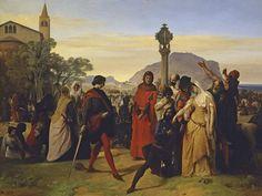 I Vespri Siciliani di Francesco Hayez, GNAM di Roma - Risposta 1039: rappresenta la rivolta di Palermo contro gli Angiò