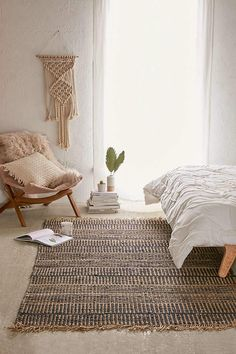 Urban Outfitters Ginny Woven Jute Rug