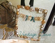 Vintage Jewelry Picture Frame. More than just a frame... come read the idea behind it. @odetoinspiration.com