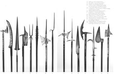 Various polearm heads of dwarven, elven and human kingdoms