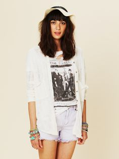 Free People Stavros Buttondown - Ivory S
