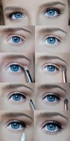 make up, natural and easy for blue eyes