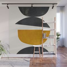 Abstract Minimal 23 Wall Mural by thindesign Removable Wall Murals, Mural Art, Decor Styles, Minimalism, Abstract Art, Room Decor, Interior Design, Room Interior, Walls