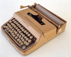 Maquina de escribir de cartón #Creatividad