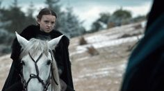 """6.09 """"Battle of the Bastards"""" – Lady Lyanna Mormont doesn't speak a word, but we still love her just for this face."""