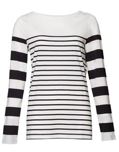 Stripes are in this season - This two stripe Breton Tee is available from Max for $69.99