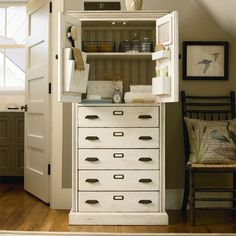I pinned this Down Home Kitchen Hutch in Cream from the Paula Deen Home event at Joss and Main!