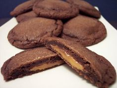 Chocolate Carmel Salted Cookies. Drool.
