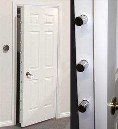 Browning Security Doors: Peace of Mind with Built-in Concealment Browning Security Doors: Seelenfrieden mit eingebauter Verschleierung Security Room, Security Alarm, Safe Home Security, House Security, Security Products, Security Tips, Security Surveillance, Surveillance System, Gun Safe Room